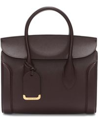 Alexander McQueen - Medium Heroine Calfskin Leather Shopper - - Lyst