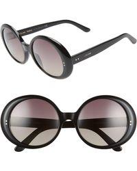 9a03f00a451 Céline - 57mm Gradient Round Sunglasses - Lyst