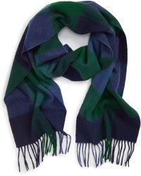 Barbour - Lockton Check Merino Wool & Cashmere Scarf - Lyst