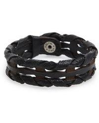 Orciani - Wax Woven Leather Bracelet - Lyst