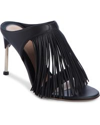 b2a6ff1b05d Lyst - Alexander McQueen Stud-embellished Strappy Caged Sandal in ...
