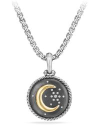 David Yurman - Moon & Star Amulet With Diamonds & 18k Gold - Lyst