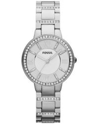 Fossil - 'virginia' Crystal Accent Bracelet Watch - Lyst