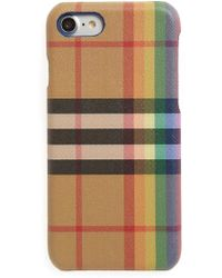 Burberry - Vintage Check Rainbow Iphone 8 Case - Lyst