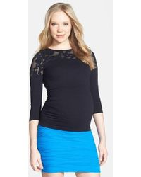 Tees by Tina - Crochet Maternity Top - Lyst