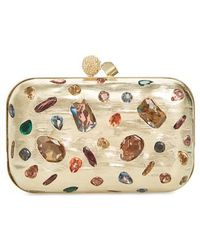 Jimmy Choo - Cloud Minaudiere Crystal Embellished Metallic Box Clutch - Metallic - Lyst