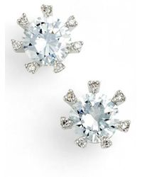 CZ by Kenneth Jay Lane - Embellished Prong Cubic Zirconia Stud Earrings - Lyst