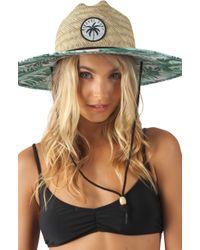 946999af Rip Curl - Palm Reader Straw Sun Hat - - Lyst