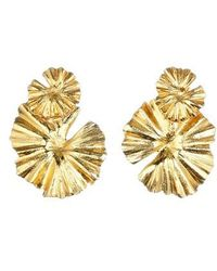 Oscar de la Renta - Wildflower Clip Earrings - Lyst