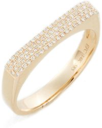 EF Collection - Jumbo Diamond Bar Ring - Lyst