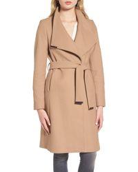 09c0bda59ddd8d Lyst - Ted Baker Wool-cashmere Wrap Coat in Pink
