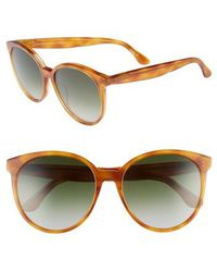 DIFF - Cosmo 56mm Polarized Round Sunglasses - Honey Tortoise/ Grey - Lyst