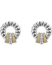 Lagos - Lux Diamond Stud Earrings - Lyst