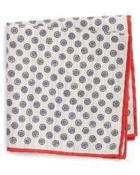 Canali - Medallion Pocket Square - Lyst