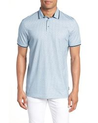Ted Baker - Abot Trim Fit Print Polo - Lyst