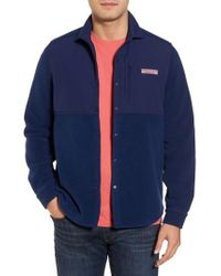 Vineyard Vines | Snap Front Fleece Jacket | Lyst