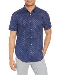 John Varvatos - Star Print Woven Shirt - Lyst