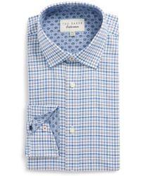 Ted Baker - Welsh Trim Fit Check Dress Shirt - Lyst