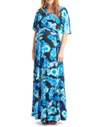 Everly Grey - Asa Maternity/nursing Maxi Wrap Dress - Lyst