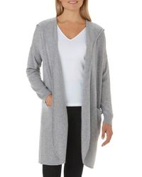 The White Company - Wool & Cashmere Hooded Cardigan - Lyst