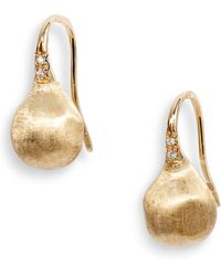 Marco Bicego - Africa Pave Diamond Drop Earrings - Lyst