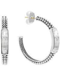 Lagos | 'maya' Caviar Hoop Earrings | Lyst