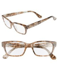 Corinne Mccormack - 'sydney' 51mm Reading Glasses - Transparent Marble - Lyst