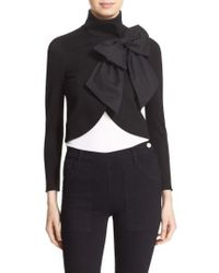 Alice + Olivia - 'addison' Bow Front Jacket - Lyst