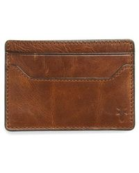 Frye | Logan Leather Money Clip Card Case | Lyst