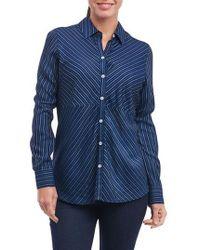Foxcroft - Hope Preppy Stripe Cotton Shirt - Lyst