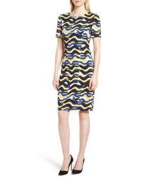 BOSS - Dashiba Color Waves Dress - Lyst