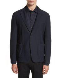 Armani - Mesh Knit Jacket - Lyst