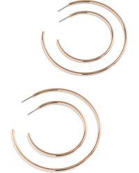 J.Crew - 4-piece Hoop Earring Set - Lyst