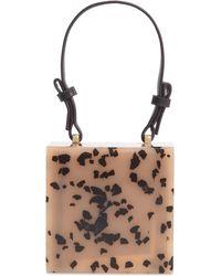 TOPSHOP Grace Acrylic Box Bag - Brown