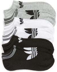 adidas - 6-pack No-show Socks, White - Lyst