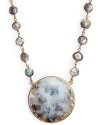 Ela Rae - Morah Semiprecious Stone Necklace - Lyst