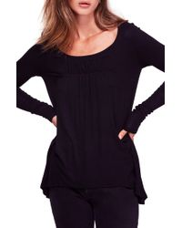 Free People - Love Valley Long Sleeve High/low Top - Lyst