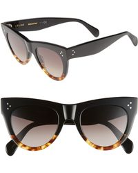 dec0df8c4d8 Céline - 51mm Cat Eye Sunglasses - Lyst