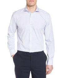Bugatchi - Trim Fit Dot Dress Shirt - Lyst