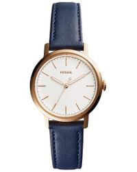 Fossil - Neely Leather Strap Watch - Lyst