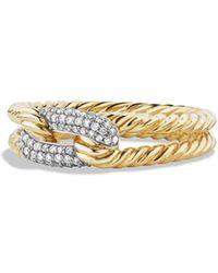 David Yurman - 'Pave' Loop Ring With Diamonds In 18k Gold - Lyst