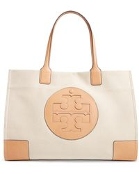 a545d995f3b4 Lyst - Tory Burch Ella Stitched Mini Tote in Gray