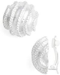 Karine Sultan - Large Clip-on Stud Earings - Lyst