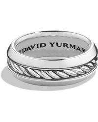 David Yurman - 'classic Cable' Band Ring - Lyst