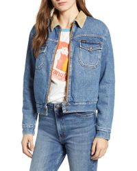Wrangler - Carpenter High Pile Fleecelined Denim Jacket - Lyst