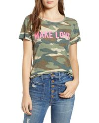 Mother - The Itty Bitty Camo Graphic Tee - Lyst