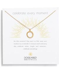 Dogeared - Celebrate Every Moment Pendant Necklace - Lyst