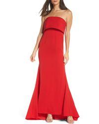 Jarlo - Blaze Strapless Foldover Bodice Mermaid Gown - Lyst