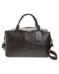 Barbour - Leather Travel Bag - Lyst