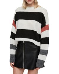 AllSaints - Suwa Striped Sweater - Lyst